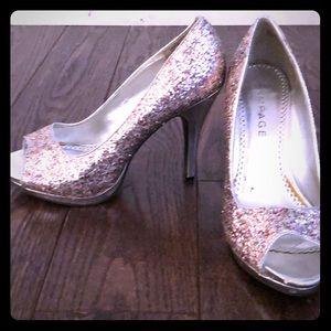 Fabulous glittery heels by Rampage sz. 8.5md.